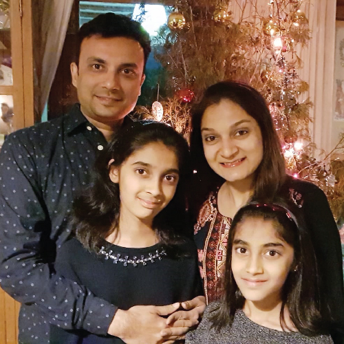 Vikas Agarwal and family
