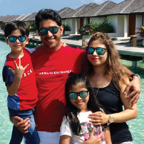 Ravi Bajaj and Family