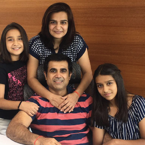 Mangesh Polekar and family
