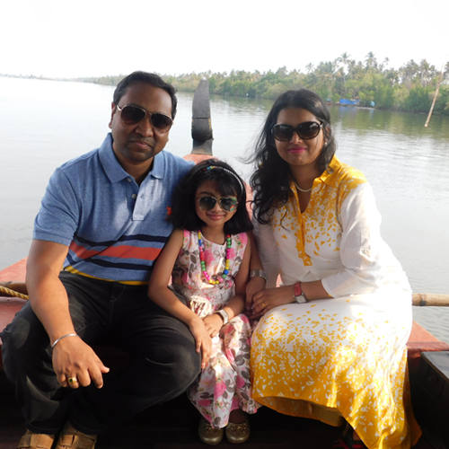 Rahul Jadhav and Family
